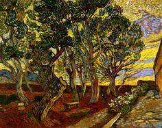 Vincent Van Gogh, The garden of the hospital, 1889