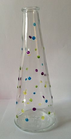 Vamped up spotty vase on Etsy, £3.00