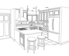 Kitchen Pencil Sketches   Google Search