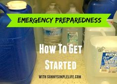 Emergency Preparedness - How To Get Started