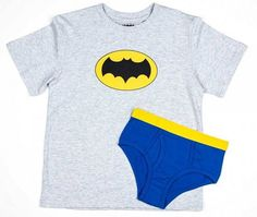 Cool Collectable Shirts! Batman Boy's Shirt/Underwear Underoos Set X-Small 4 #BIW #underwear