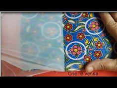 Impermeabilizando tecido em casa podendo lavar e passar. - YouTube Fabric Painting, Fabric Art, Fabric Crafts, Craft Projects, Projects To Try, Waterproof Fabric, Book Binding, Felt Art, Craft Videos