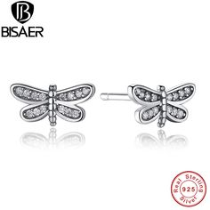 >> Click to Buy << 925 Sterling Silver Petite Dragonfly Small Women Stud Earrings Clear CZ Fashion Engagement Jewelry HJS412 #Affiliate