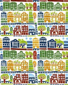town_final_markers fabric by katja_saburova on Spoonflower - custom fabric