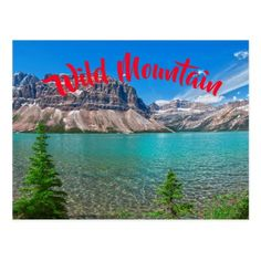 Wild Mountain Lake Postcard  $1.00  by WildShotPhotography  - cyo customize personalize unique diy idea