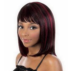 2016 Nouveau 35 cm Courte Perruque Femmes Bob Lindo Frange Droite Cosplay Perruque Résistant À La Chaleur Brun rouge Cheveux perruque Livraison gratuite