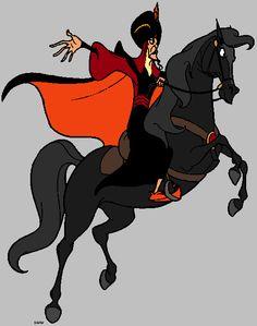 Jafar on his horse