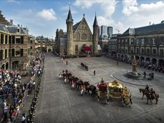 "The ""gouden koets"" leaving Binnenhof in The Hague."