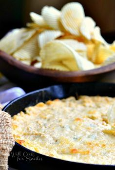 Spicy Chicken Ranch Dip made in a skillet with chicken, green onion, cream cheese and Spicy Ranch mix | #dip #chickendip #ranch