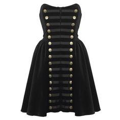 Something else I need to DIY: a velvet military dress