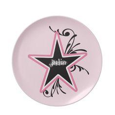 KRW Pink and Black Zebra Diva Custom Name Plate