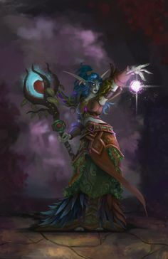 ArtStation - Night Elf Druid, Brooke Huval
