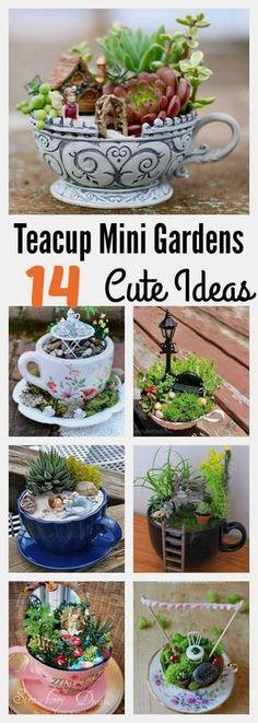 14 Cute Teacup Mini Gardens Ideas #garden for beginners, #garden art, indoor garden, garden party #entertainment #food #drink #gardening #geek #hair #beauty #health #fitness #history #gardenart #indoorgardening