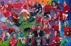 #mufc Manchester United, Places To Visit, Painting, Art, Legends, England, Live, Art Background, Man United