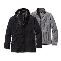 Patagonia Men\'s Better Sweater\u00AE 3-in-1 Parka - Black BLK