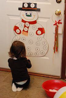 For preschool co-op. Snowman letter match