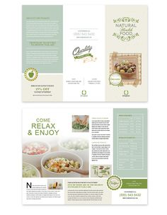 Leaflet Layout, Leaflet Design, Ad Design, Layout Design, Design Flyers, Design Food, Brochure Food, Brochure Layout, Graphic Design Brochure