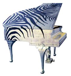 amazing painted baby grand