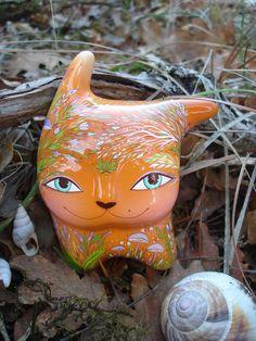 Cat in the wind by Jivizvuk on Etsy