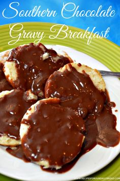 Southern #Chocolate Gravy Breakfast #breakfast #chocolate #best breakfast http://recipesforourdailybread.com/2014/11/07/chocolate-gravy-recipe-video/