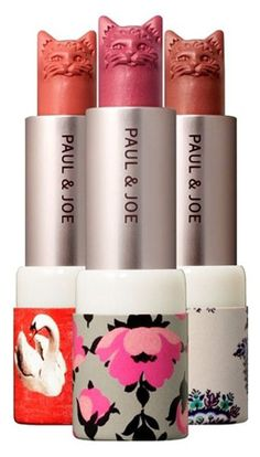 Cat-shaped lipstick from Paul & Joe Beaute. No longer available.