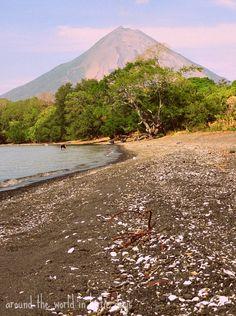 View of Concepcion Volcano from Punta Jesus Santa Maria on Ometepe Island, Nicaragua