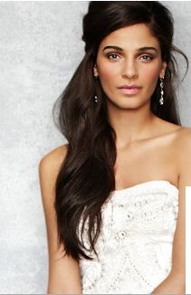 wedding hair inspiration from this bloomingdales.com model More