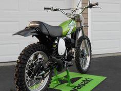 Your Collection: 1976 Kawasaki - Racer X Online Mx Bikes, Motocross Bikes, Vintage Motocross, Sport Bikes, Cool Bikes, Vintage Bikes, Vintage Motorcycles, Kawasaki Dirt Bikes, Off Road Bikes