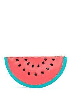 watermelon zip pouch