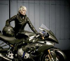 BMW biker girl!