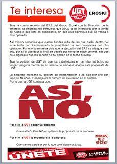 REDACCIÓN SINDICAL MADRID: ASÍ NO - Cuarta reunión del ERE del Grupo Eroski