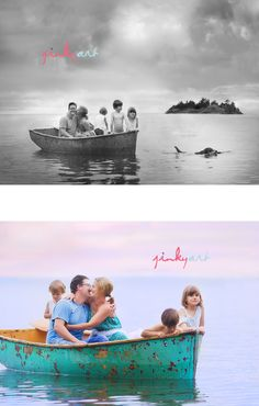 Barb is the master!  And now I want my next family session in a row boat!