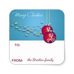 #Christmas Gift Sticker - #Xmas #ChristmasEve Christmas Eve #Christmas #merry #xmas #family #kids #gifts #holidays #Santa