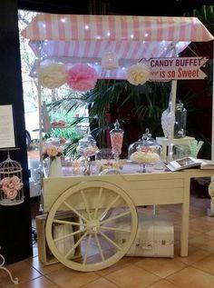 Rosa ist immer wieder schön. Candy Cart, Candy Buffet, Bar Cart, Table Decorations, Sweet, Home Decor, Pink, Kiosk, Wedding Sweets