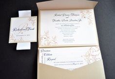 Pocket Wedding Invitations by JaxDesigns27 on Etsy  All 2014 invite orders come with a free unity candle