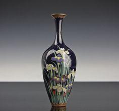 Logisch Paar Alte Cloisonné Vasen Internationale Antiq. & Kunst