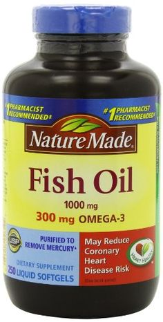 Nature Made Fish Oil 1000 Mg, Value Size, Softgels, 250-Count //Price: $11.10 & FREE Shipping //     #hashtag3