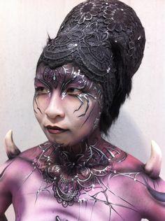 Spider body make-up