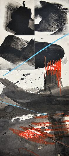 blue stroke    2009  collage on paper  www.martingyger.ch