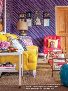 O escritório colorido de Mindy Kaling - Ricota Não Derrete