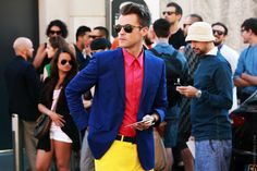Love this. Not enough photos of stylish men out there. From STREETFSN.