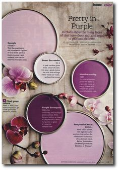 It's Pantone Color of the Year time! Each year Pantone comes out with their color forecast. The Purple, Purple Stuff, Purple Hues, Purple Palette, Magenta, Purple Walls, Purple Orchids, Periwinkle, Light Purple