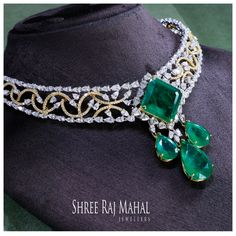 The exemplary design is delicately crafted with emeralds and the finest marquise and pear shaped diamonds creating a magical play of light. #diamond #necklace #bridal#weddingfashion#indianwedding #jewellery#design#jewelleryfashion#jewellerydesigner#bestoftheday  #jewelleryoftheday#picoftheday#ShreeRajMahalJewellers#southex ##delhi