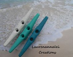Boat Cleat Wall Hooks, Nautical Home Decor, Boat Cleat, Key Hooks, Towel Hook, Rustic Decor, Drawer Pulls, Beach Cottage Decor. Happiness is a day at the beach. Add this set of 3 boat cleats to your b