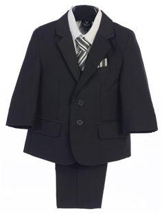 Swea Pea and Lilli Lito Baby Boys White Satin-Faced Jacket Shirt Pants Vest Bow-Tie Tuxedo 3-24M