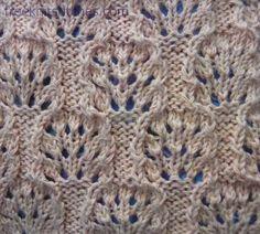 Sea-urchin knitting stitches