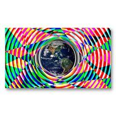 Earth Vibes Rainbow Business Cards Zazzle