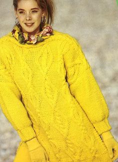 Amarillo Jumper Pdf Knitting Pattern No.0681 De TimelessOne