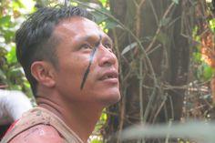 Ivan Xirixana Yanomami escutando os passarinhos na floresta. Foto: Moreno Saraiva Martins/ISA. Leia o diário de viagem completo e veja outras imagens da Expedição Rio dos Veados > isa.to/1ag7MYF