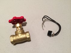 Water Valve Light Switch for a Pipe Lamp